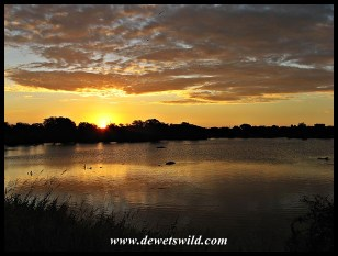Sunset at Nsemani Dam