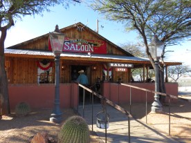 The rowdy saloon - in and out...