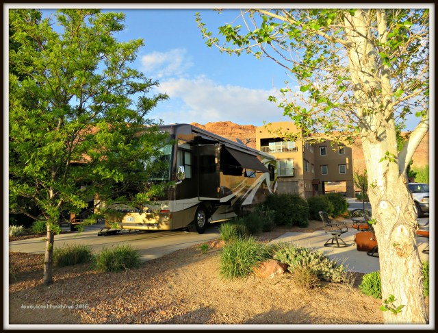 Our spot at Portal RV Resort Centrally located on HWY 191 Moab, UT