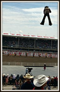 Flying Cowboys at the Calgary Stampede