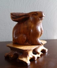 Carving, wooden bunny 6