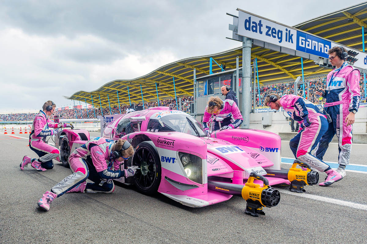 Pitstop Forze waterstof raceauto tijdens de Gamma Race Days 2019