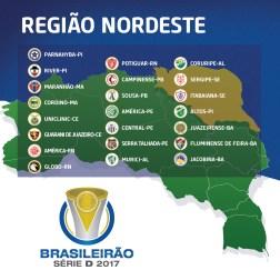 Times - Região Nordeste - Brasileirão Série D 2017