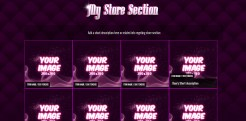 Custom MyFreeCams profile design Jaelyn - Store section
