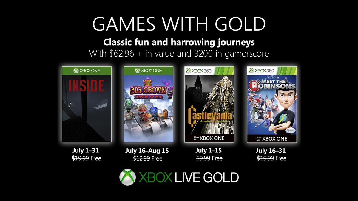These are the Games with Gold games of July 2019
