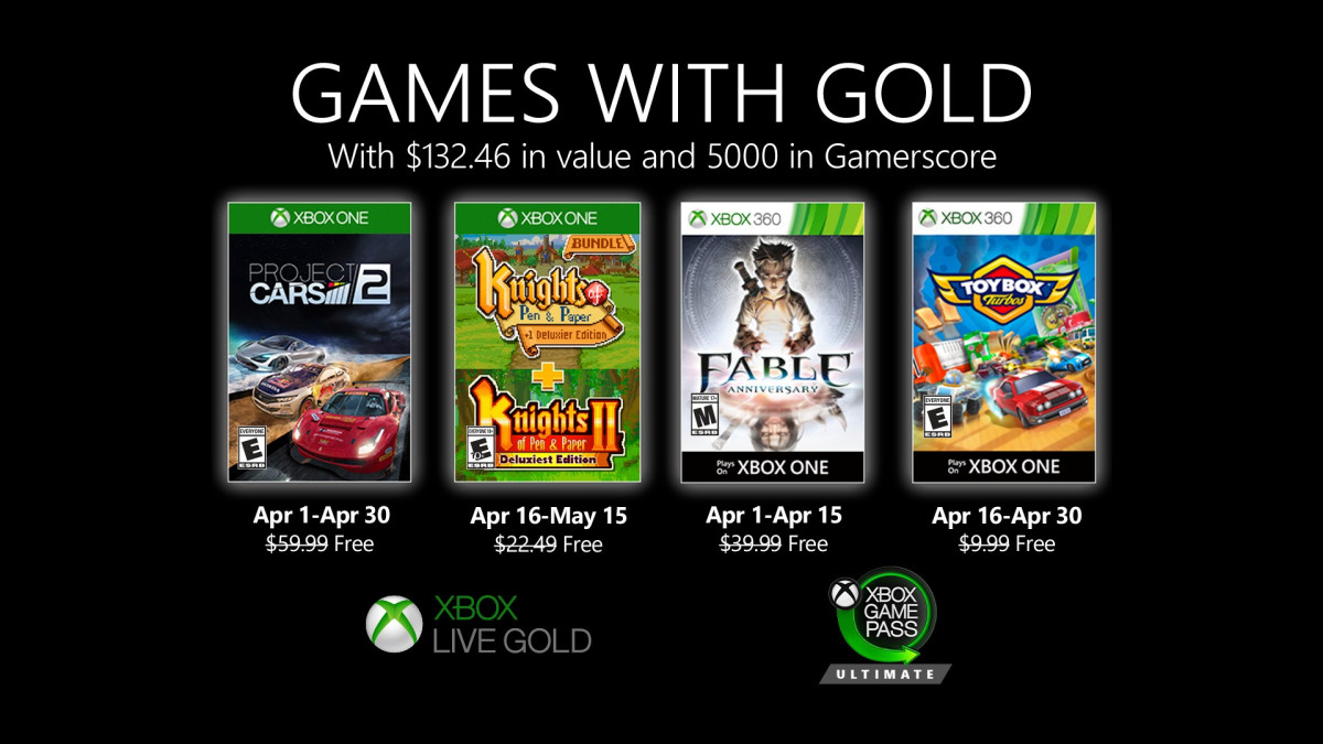 These are the Games with Gold games of April 2020