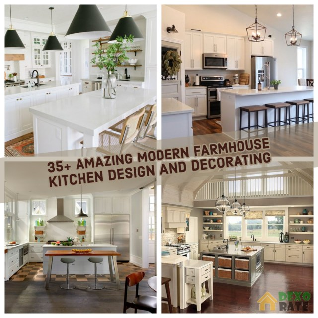 35 Amazing Modern Farmhouse Kitchen Design And Decorating
