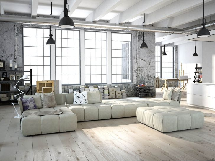 Awesome Small Industrial Living Room