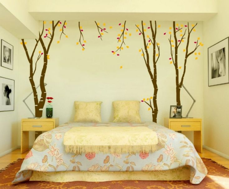 Bright Bedroom Promotes Summer Wall Arts And Floral