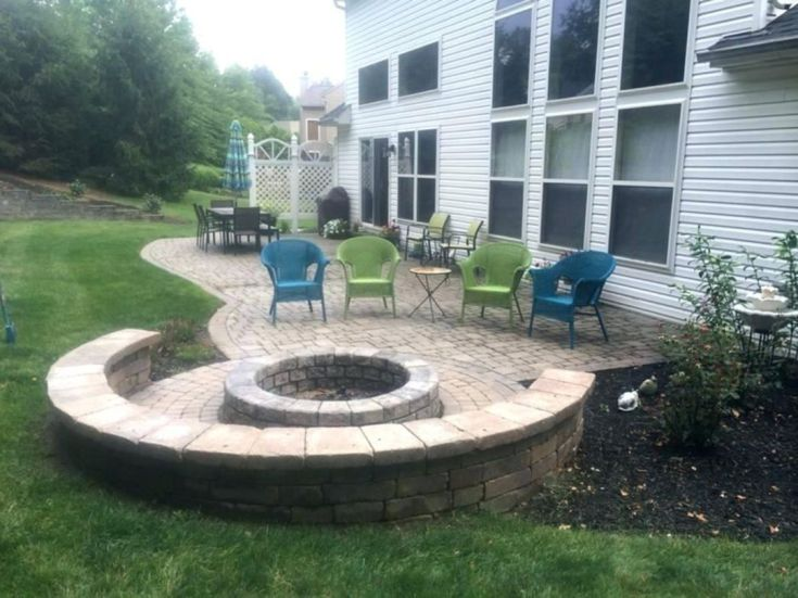 Fire Pit Patio With Seating