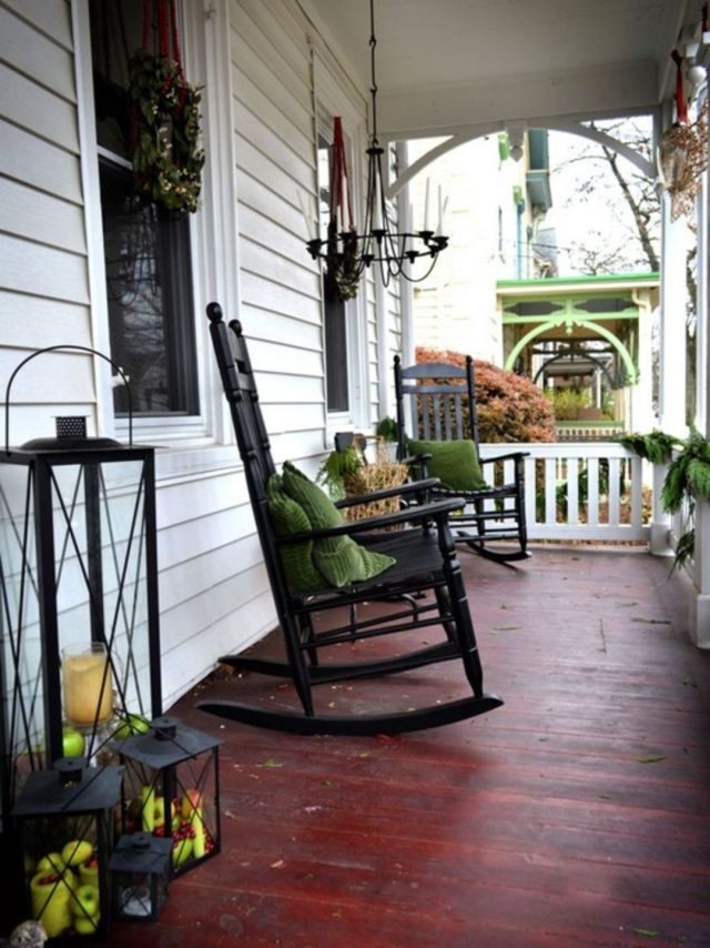 Front Porch With Lanterns Ideas