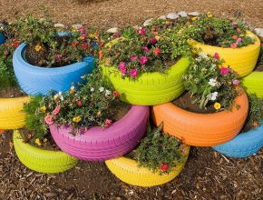 Garden Ideas From Recycled Materials 104