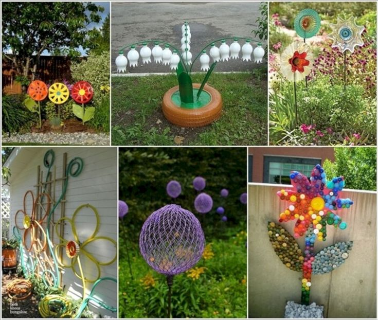 Garden Ideas From Recycled Materials 105
