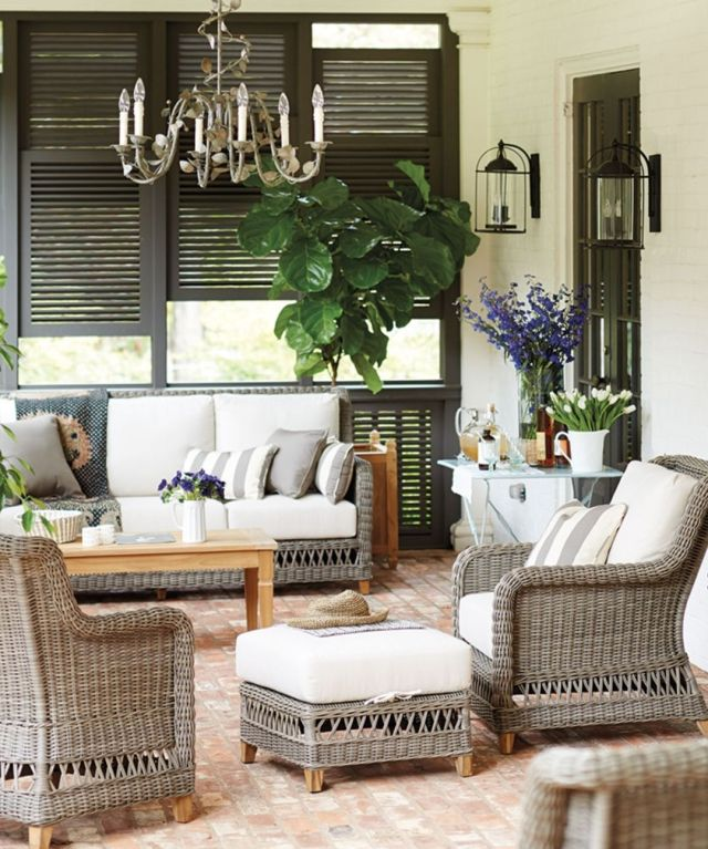 Large Front Porch With Furniture Ideas