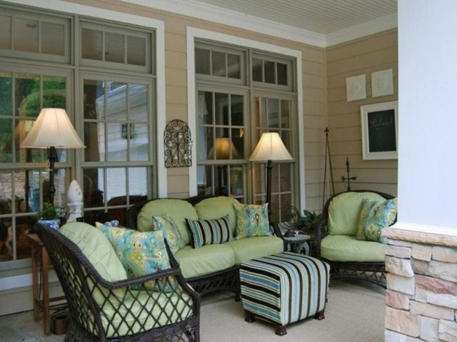 Lovely outdoor living room on the porch