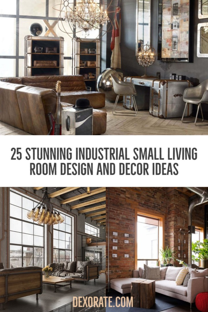 25 Stunning Industrial Small Living Room Design And Decor