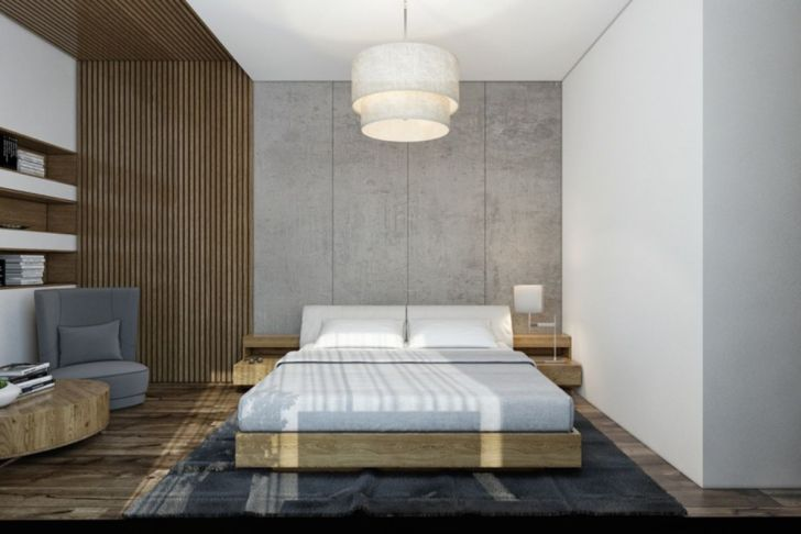 Artistic Bedroom Design with Cement Walls 01