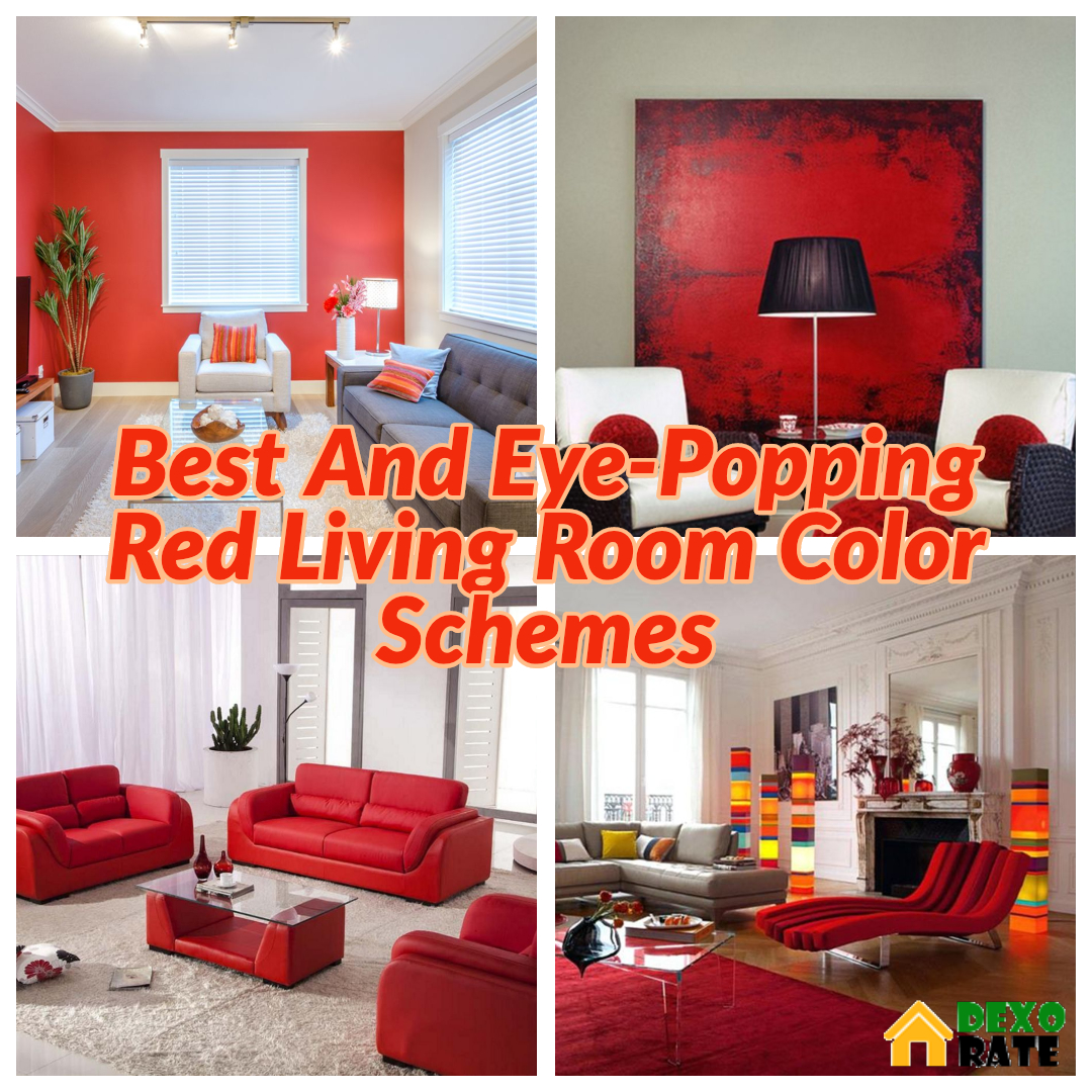 Best And Eye Popping Red Living Room Color Schemes