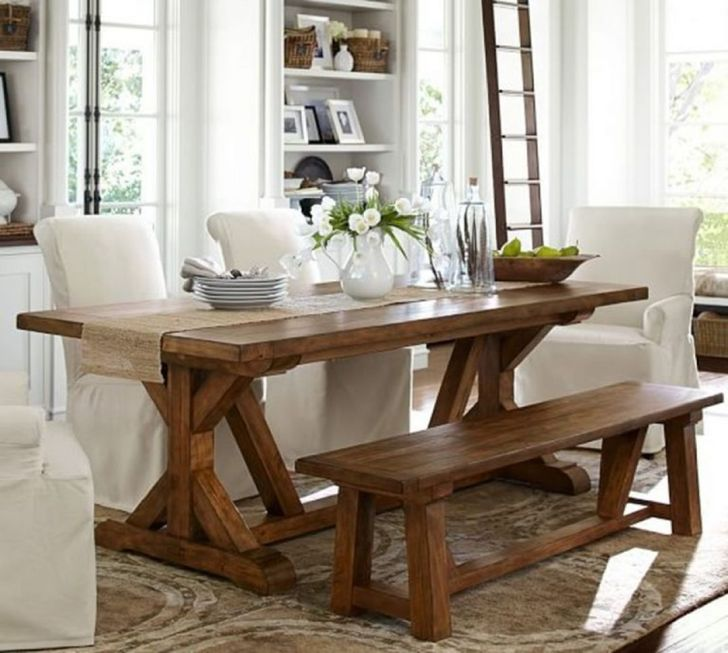 38 Charming Farmhouse Dining Table Designs To Enjoy Your Dinner Perfectly Dexorate