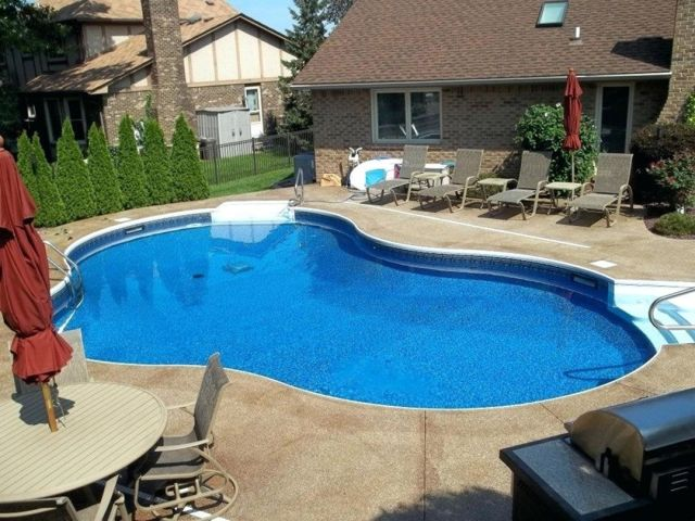 Inground swimming pool designs for small backyard