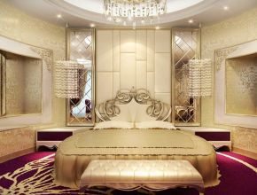 Luxurious dream home master bedroom suite