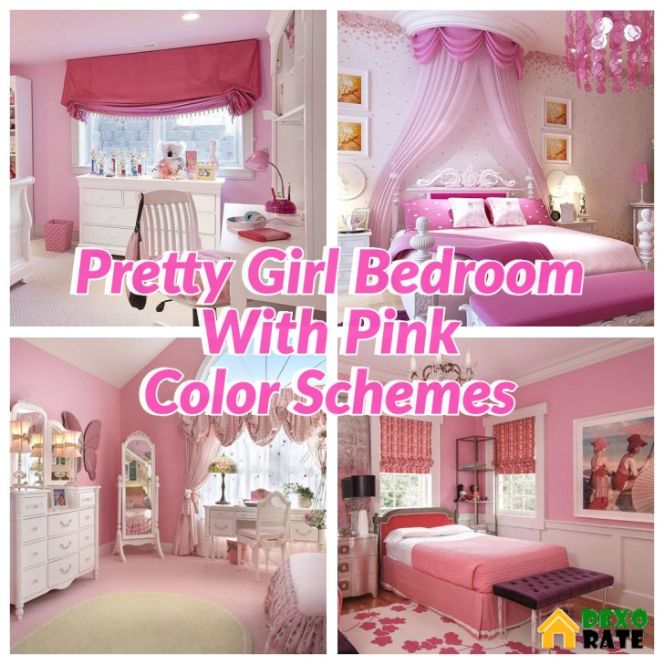 35 Pink Girly Bedroom Color Schemes That Will Make Everything More Joyful Dexorate