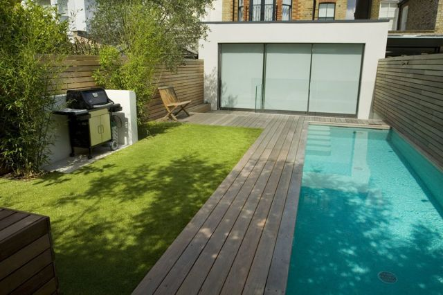 Small Swimming Pool In Backyard Garden