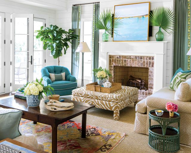 Southern Summer Living Room Decoration