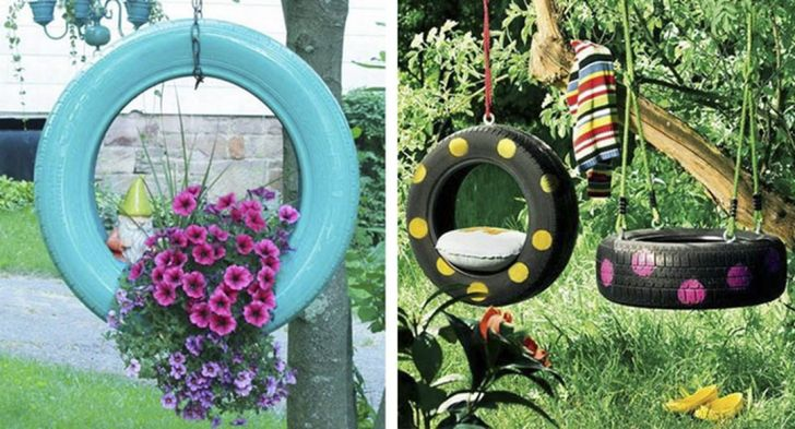 Best decoration ideas with recycled tires