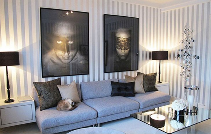 30 Most Attractive Striped Living Room Wall Paint Styles Dexorate