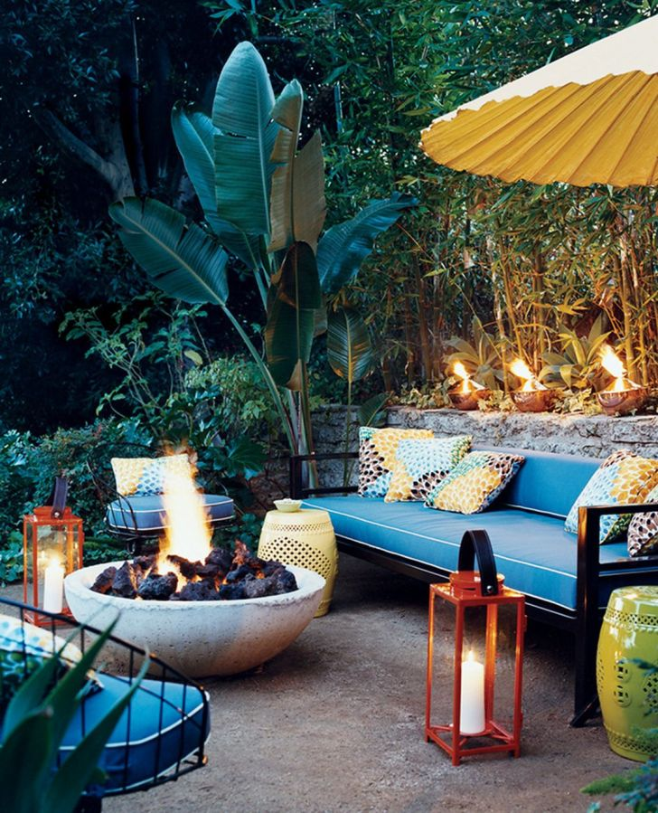 Inspiring Outdoor Bohemian with Fireplaces