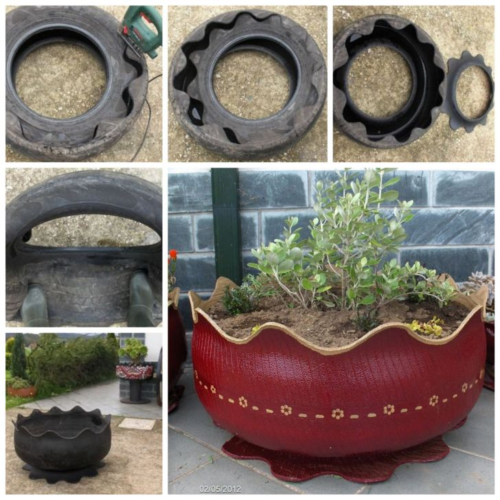 Old Tire Planters Ideas
