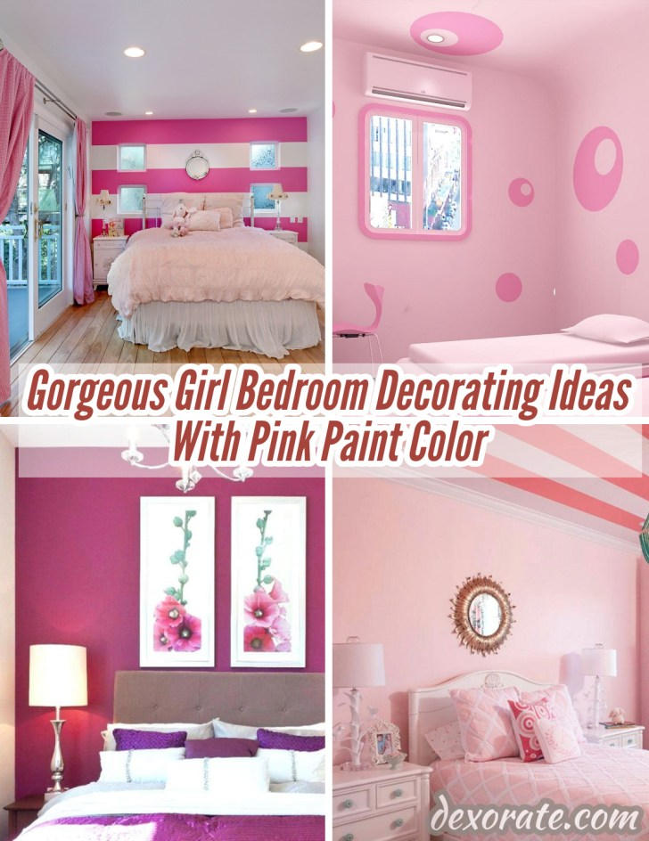 22 Gorgeous Girl Bedroom Decorating Ideas With Pink Paint ...