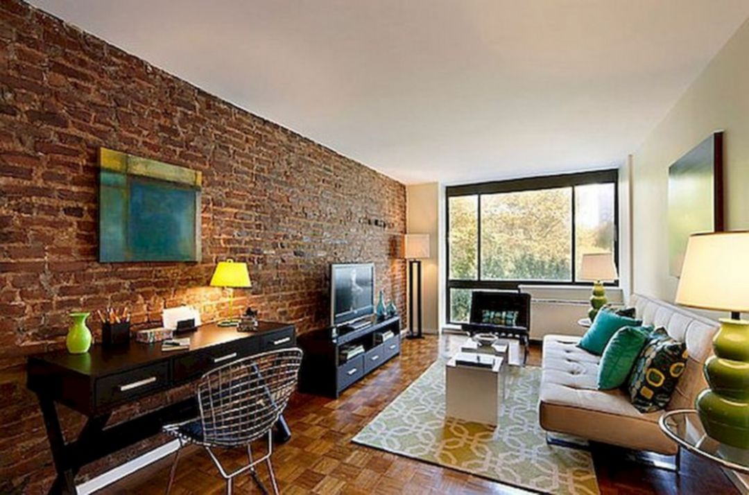 30 Marvelous Living Room Design With Brick Wall Ideas That ... on Brick Wall Decorating Ideas  id=96673