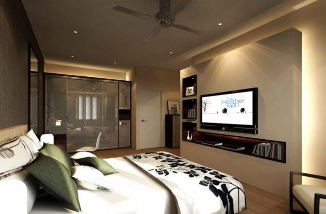 Amazing Modern Master Bedroom Design ideas With TV Wall Unit