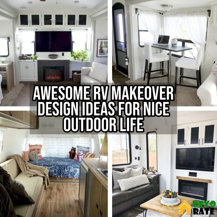 Awesome RV Makeover Design Ideas For Nice Outdoor Life