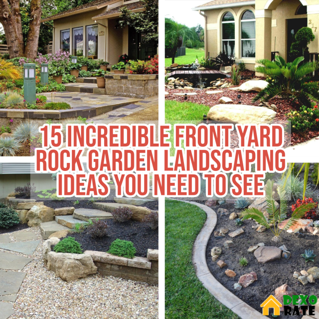 15 Incredible Front Yard Rock Garden Landscaping Ideas You