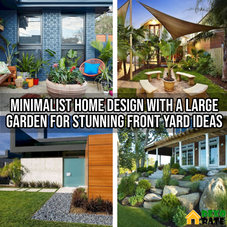 Minimalist Home Design With a Large Garden For Stunning Front Yard Ideas