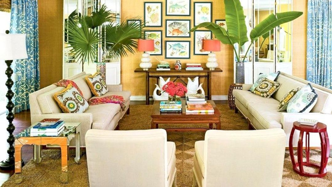 15 Fascinating Tropical Living Room Interior Style Ideas - DEXORATE