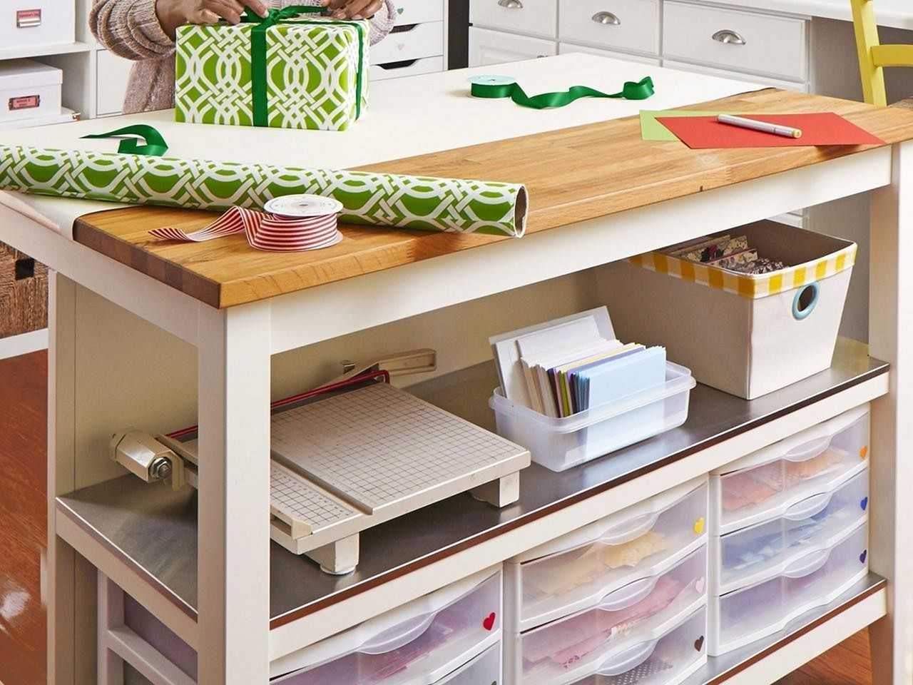 Craft Table Plant With Storage