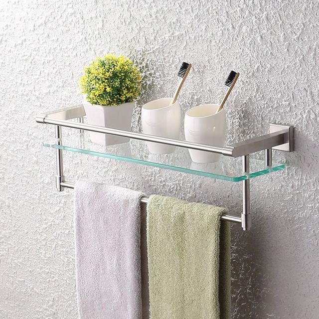 Bathroom Glass Wall Shelves