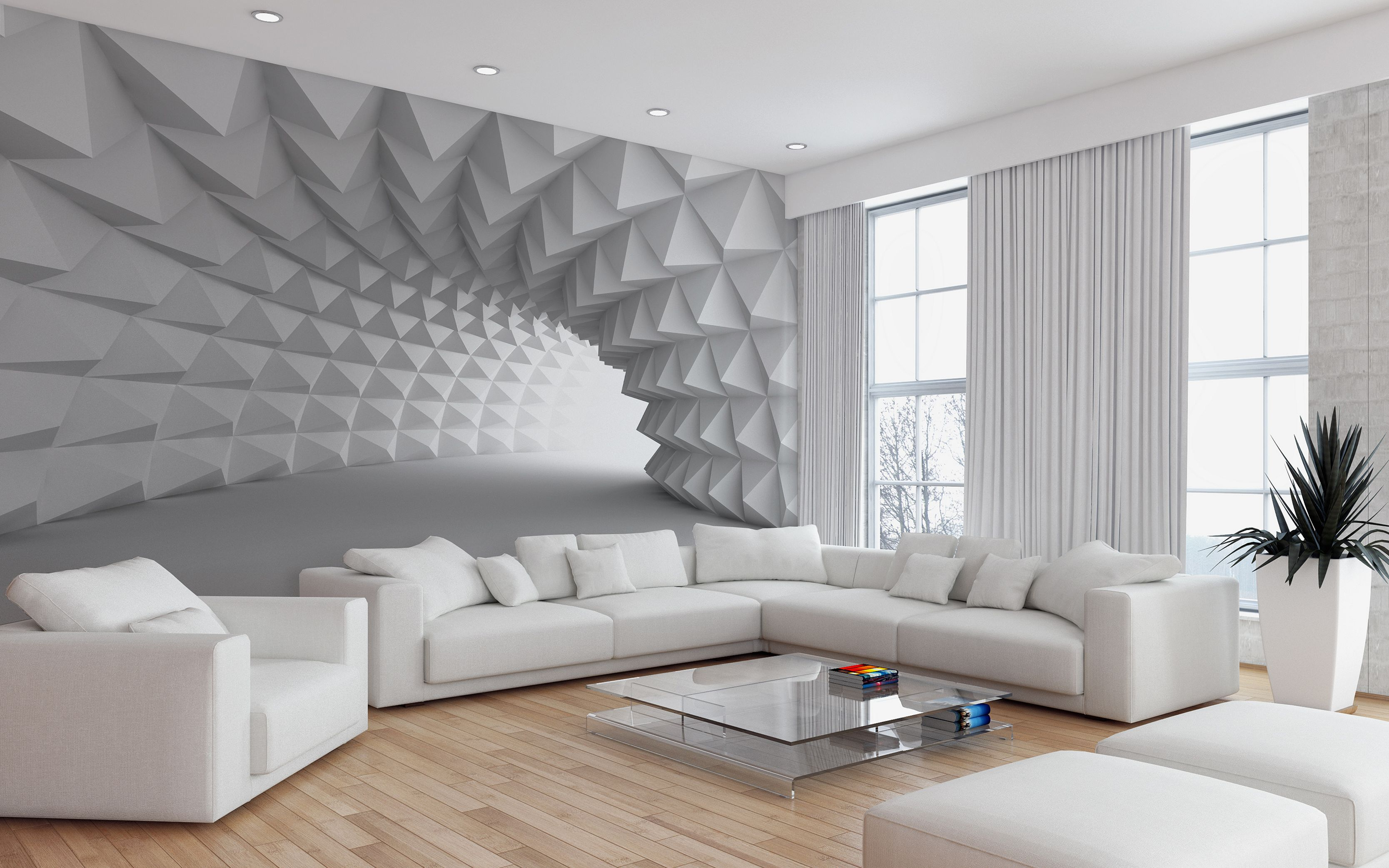 12 Gorgeous Living Room Design With 3D Wall Ideas To ... on Pictures For Room Decor  id=13883