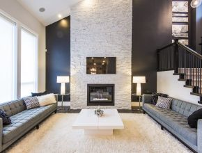 Best Living Room Wall Stone Ideas