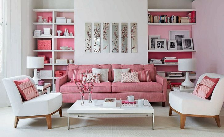 Living Room With Pastel Color Design