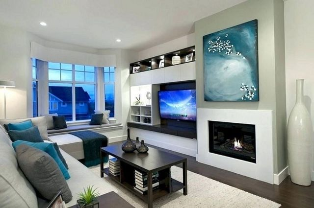 Cozy Living Room Wall TV Ideas