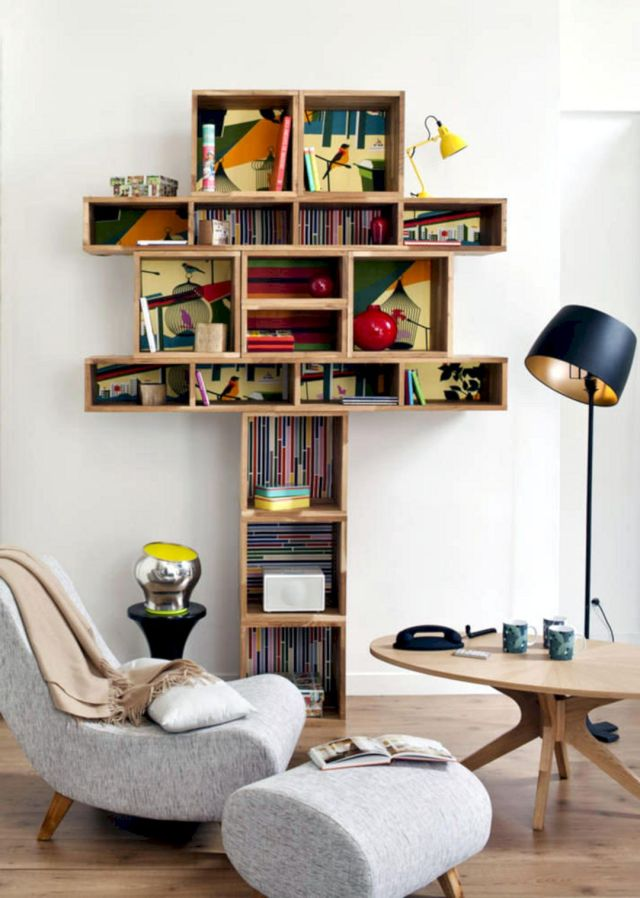 DIY Living Room Bookshlef Ideas