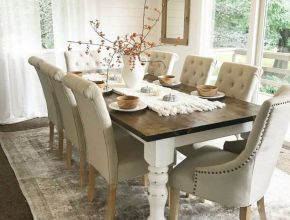 Adorable Farmhouse Dining Table Ideas