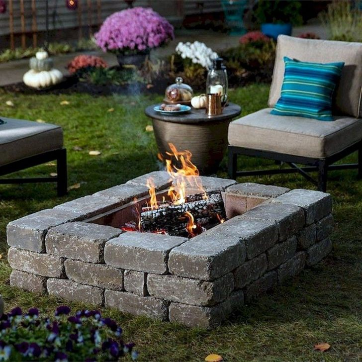 Simple and Cheap Fire Pit and Backyard Landscaping Ideas