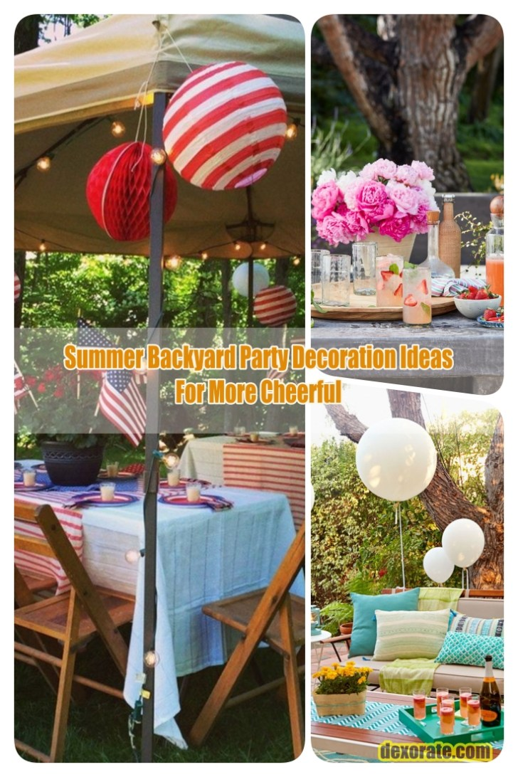 Summer Backyard Party Decoration Ideas