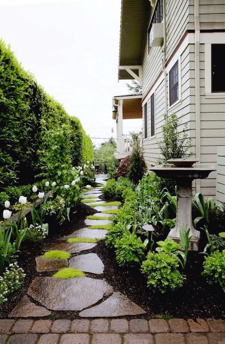 Stunning Side Yard Garden with Pathways Lands